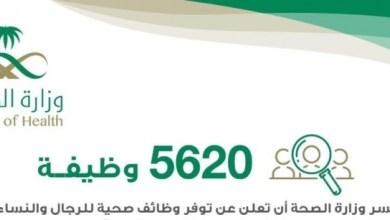 Photo of الصحة تعلن توفر 5620 وظيفة شاغرة للمواطنين.. هنا رابط التقديم