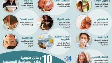 Photo of إنفوغراف: 10 وسائل طبيعية لعلاج الحساسية الموسمية