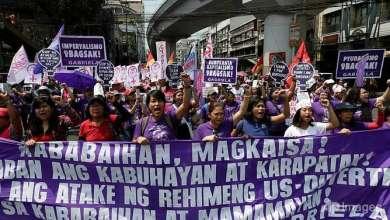 "Photo of آلاف الفلبينيات يتظاهرن ضد ""كاره النساء"""