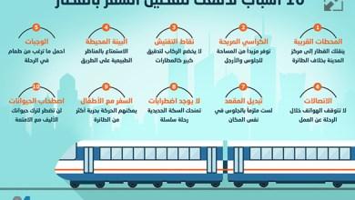 Photo of إنفوغراف: 10 أسباب تدفعك لتفضيل السفر بالقطار