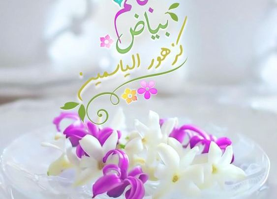 صباحكم بياض كزهرة الياسمين