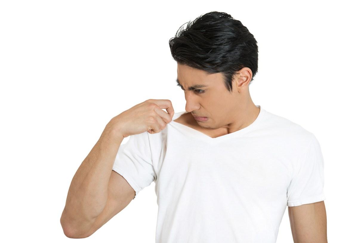 القضاء على رائحة العرق