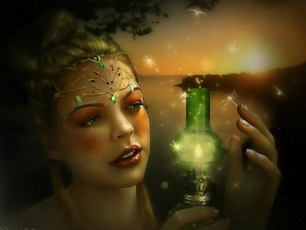 المرأة والمصباح السحري