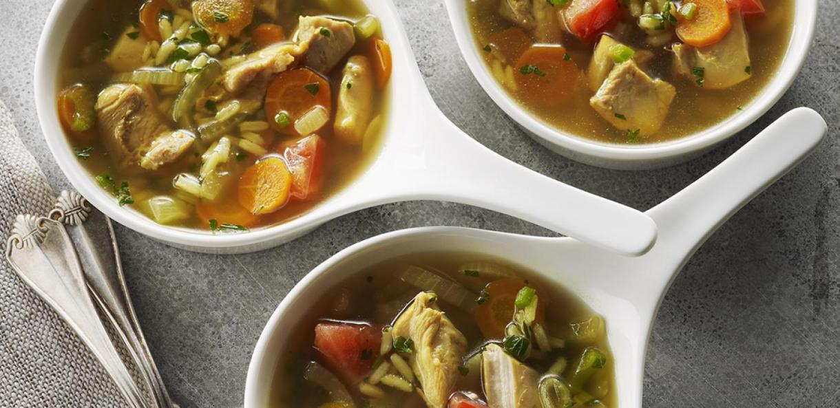 حساء الدجاج الهندي