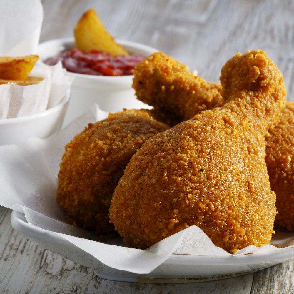 الدجاج المسحب الحار