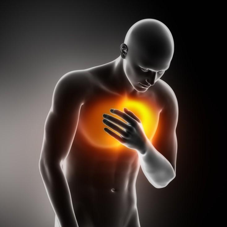 صعوبة التنفس ويصاحبه بالشعور بالألم