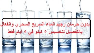 Photo of رجيم الماء السريع