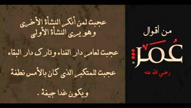 Photo of أهم أقوال الخليفة عمر بن الخطاب