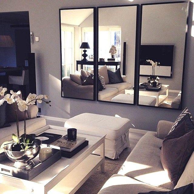 المرآة كديكور للغرف الصغيرة