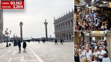 Photo of شاهد: كورونا يحول مدينة البندقية الشهيرة في إيطاليا إلى مدينة أشباح خالية من السياح