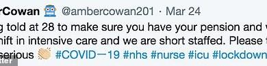 "Photo of إجبار ممرضة بريطانية على كتابة وصيتها قبل علاج مصابي ""كورونا""!"