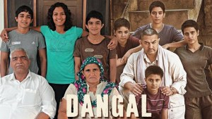 dangal poster with original phogat family