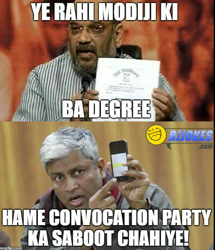 Modi degree jokes
