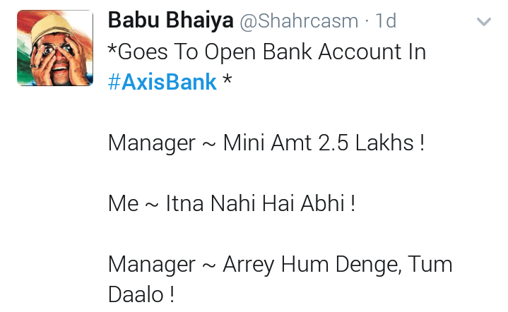 Twitter reaction on axis bank fraud