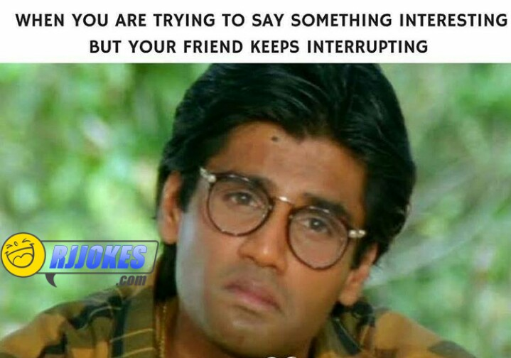 Funny Sunil shetty reaction