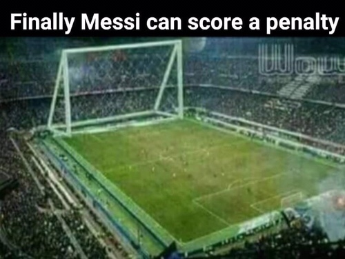 How Messi score a penalty? Meme