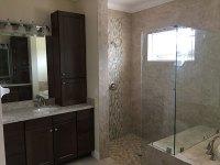 Custom Master Bath with Walk-In Shower - RJM Custom Homes