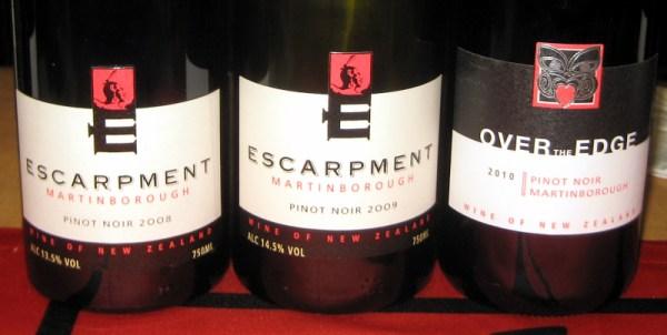 Escarpment Pinot Noirs