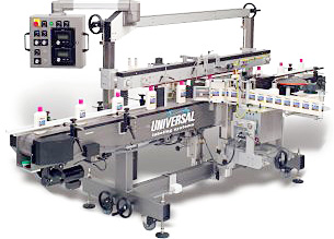 CP1000 front/back or round product labeling system