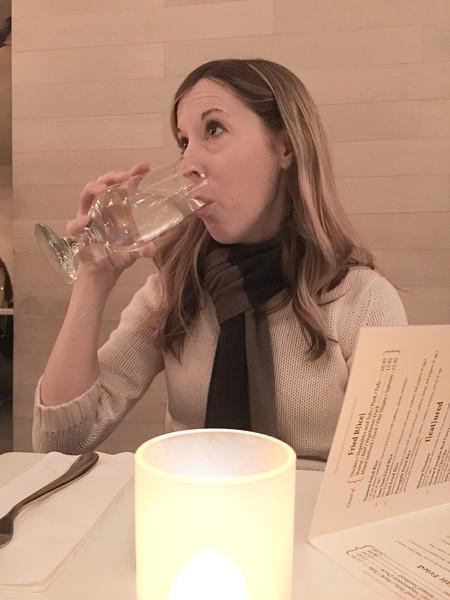 Julie at Dinner