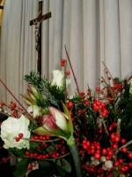 Kerstversiering in de Boomkerk