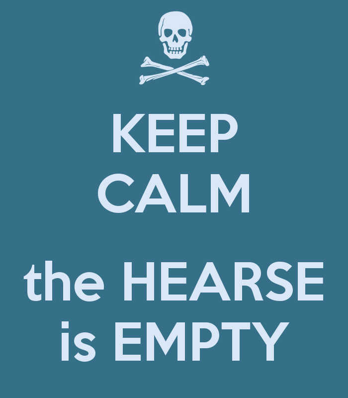 BBC Sherlock Keep Calm the Hearse is Empty image