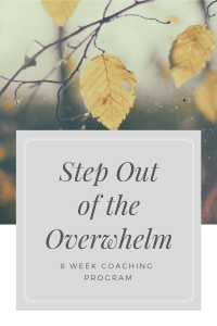 Step Out of the Overwhelm