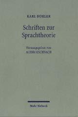Schriften zur Sprachtheorie