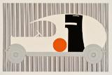 Wilhelm Deffke, Entwurf für die Gestaltung eines Reemtsma-Lieferwagens, 1920, Scherenschnitt, Papier, Motiv: 12,3 x 25 cm; Blatt: 16,7 x 27,1 cm, Nachlass Wilhelm Deffke, Mappe III, Tafel Nr. 220 © Bröhan Design Foundation