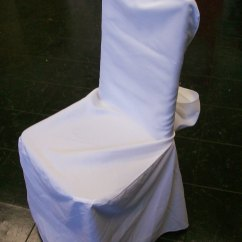 White Chair Covers With Ivory Sash Hire Bristol Cover Attached | Roland L. Appleton, Inc