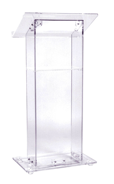 acrylic folding chairs ikea outdoor lounge chair crystal clear podium | roland l. appleton, inc