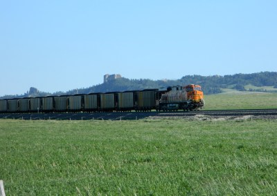 Burlington train northbound Crawford Nebraska