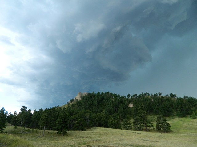 Thunderstorm building over Little Wolf Ridge, Whitney, Nebraksa