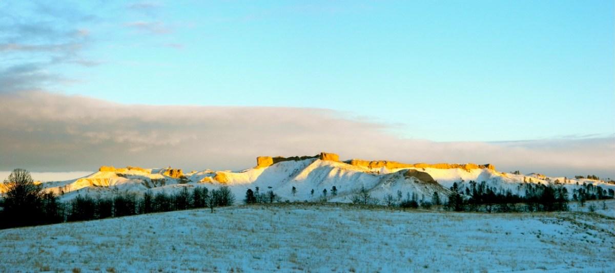 January snow along The Pine Ridge