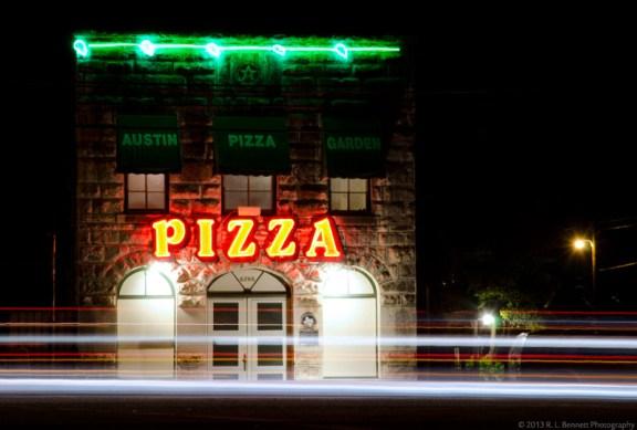 austin pizza garden restaurant poltergeist creepy historic