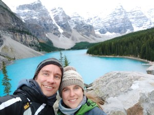 Selfie am Moraine Lake Kanada