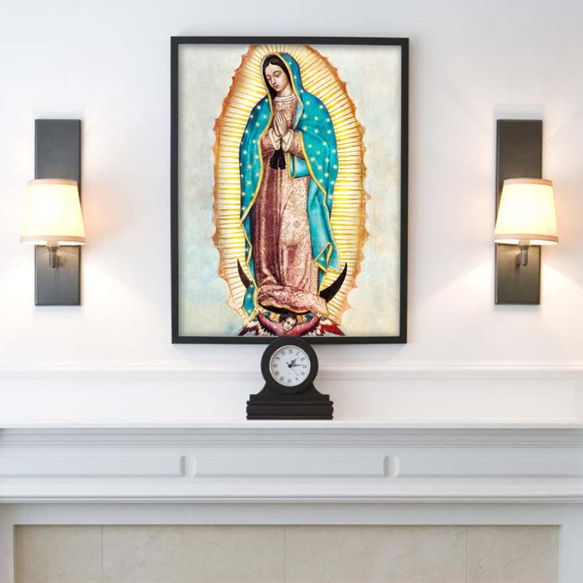 Our Lady Of Guadalupe Framed Print Rl George Studio