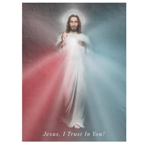 The Divine Mercy Fleece Blanket