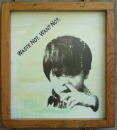 """""""Waste Not. Want Not."""" by Artist R.L.Gibson"""