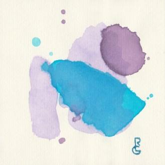 Murmur, watercolor, by R.L. Gibson