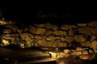 Stone wall wash lighting - RLI Electric