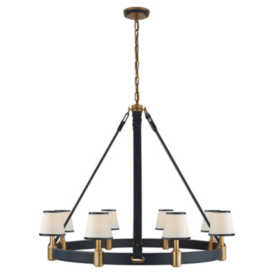 riley large ring chandelier in natural