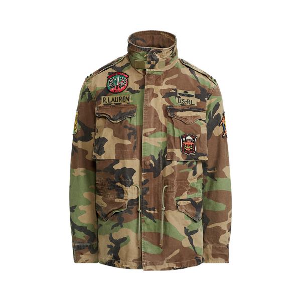 camo field jacket ralph