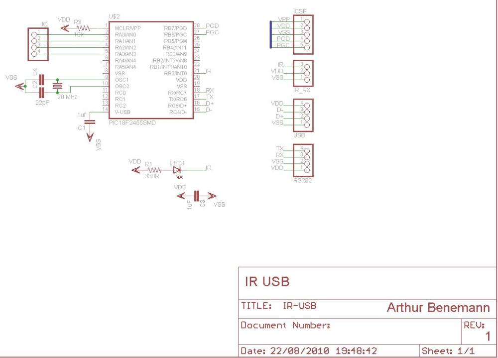 medium resolution of ir usb on pic f usb ir receiver circuit diagram