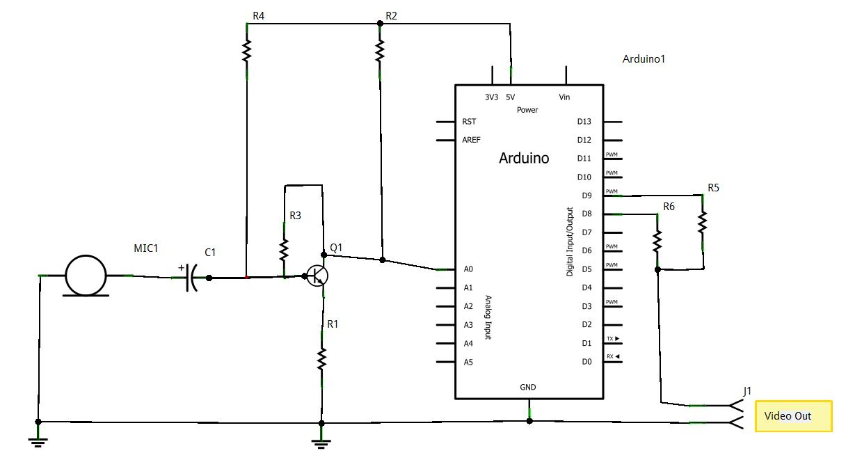Arduino Realtime Audio Spectrum Analyzer with Video out!