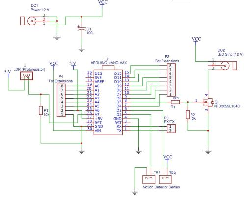 small resolution of  ontroller for automatic lighting of the working area in the kitchen schematic
