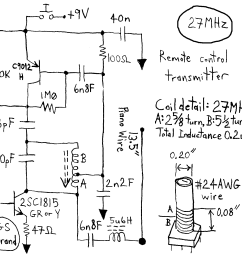 simple rc cars single channel transmitters and super regenerative looking for circuit diagram for 27mhz 40mhz or 49 mhz rc [ 1671 x 1525 Pixel ]