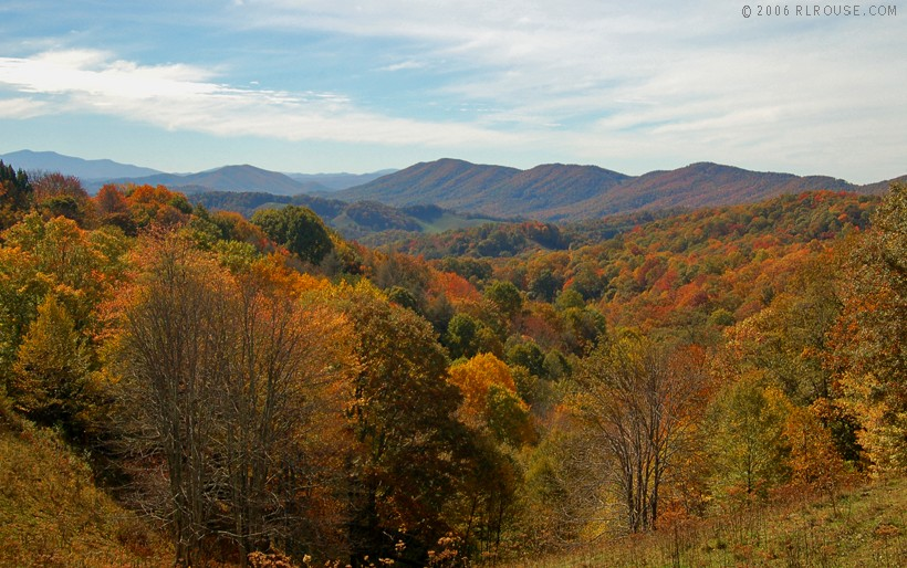 the western North Carolina mountains