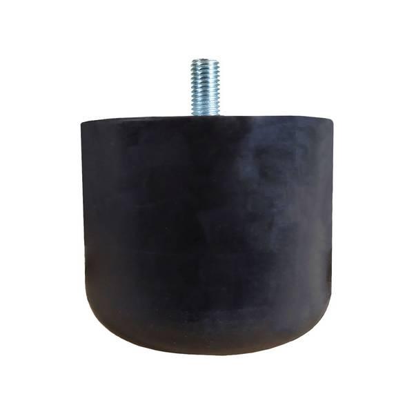 Tampon      amortisseur cylindrique caoutchouc Ø100 x 80 mm • Tige filetée M12 x 25 mm