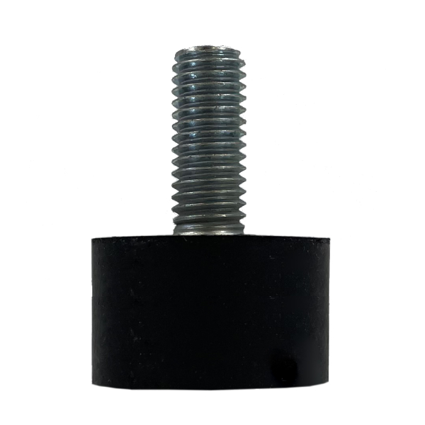 Tampon                             amortisseur cylindrique caoutchouc Ø25,5 x 15 mm • Tige filetée M8 x 20 mm